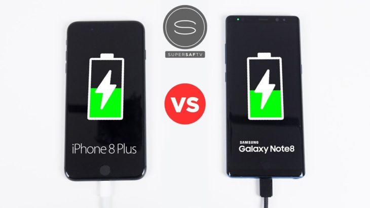 iPhone 8 Plus vs Galaxy Note 8 : lequel se recharge le plus vite ?