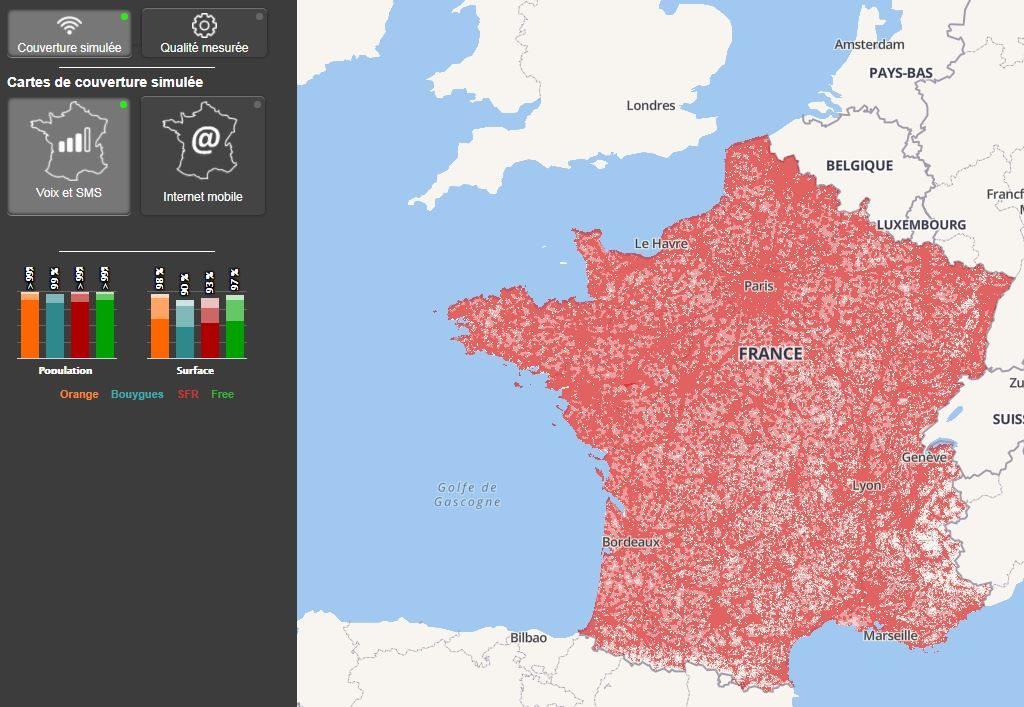 monreseaumobile fr 1024x707 - Monreseaumobile.fr : toute la couverture réseau en France, par l'ARCEP