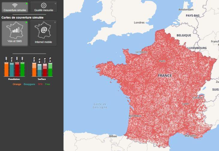 Monreseaumobile.fr : toute la couverture réseau en France, par l'ARCEP