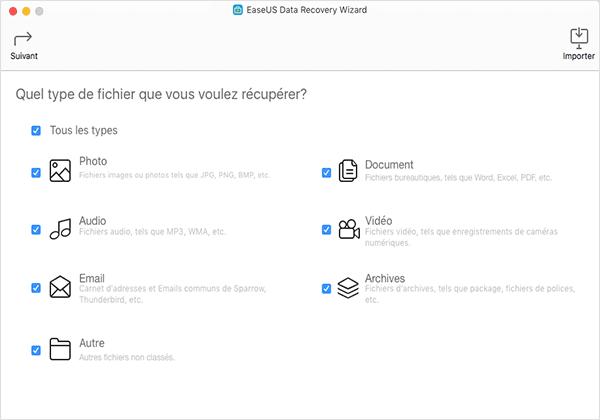 EaseUS Data Recovery Wizard 1 - EaseUS Data Recovery Wizard : récupérer ses données perdues sur Mac
