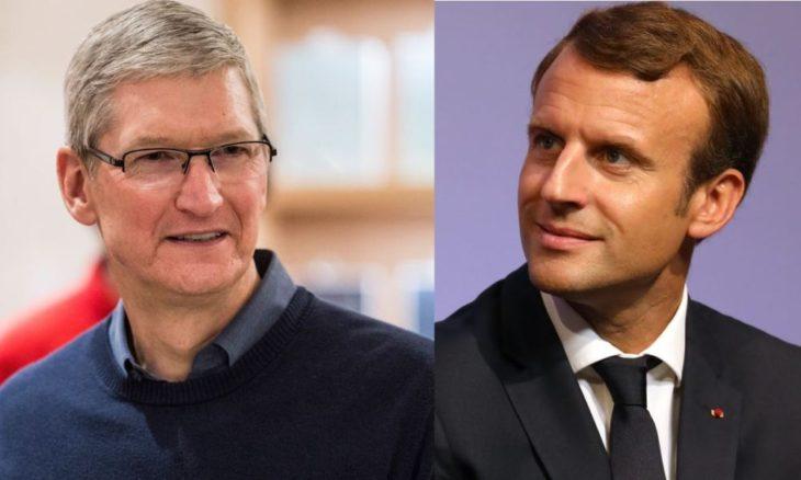 Apple : des détails sur la rencontre entre Tim Cook & Emmanuel Macron