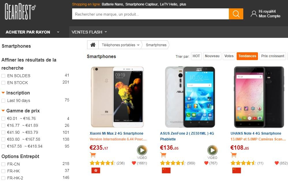 gearbest smartphones - GearBest : tout le high-tech (smartphones, tablettes, ...) au meilleur prix
