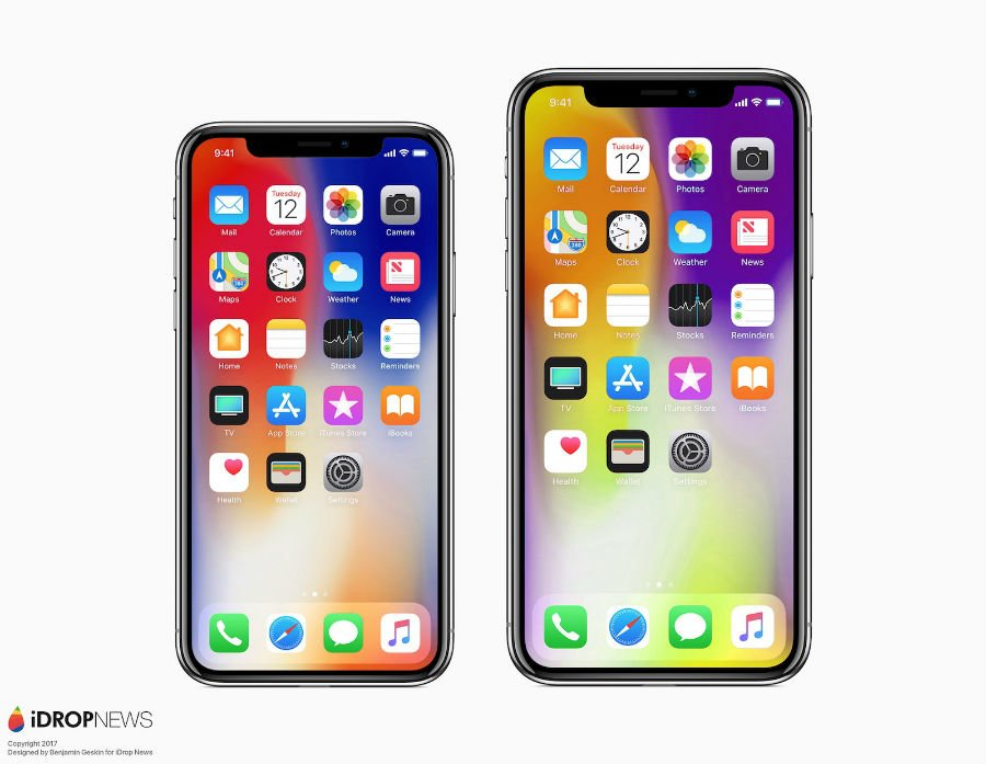 iPhone X vs iPhone X Plus concept 2 - iPhone X Plus (2018) : un premier concept avec un écran de 6,4 pouces