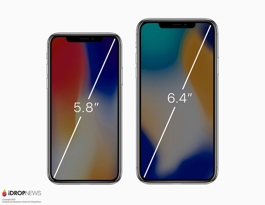 iPhone X vs iPhone X Plus concept 3 - iPhone X Plus (2018) : un premier concept avec un écran de 6,4 pouces
