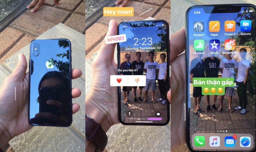 """iphone x prise en main fuite 1024x607 - Des iPhone X """"dans la nature'' se montrent en photos et en vidéo"""