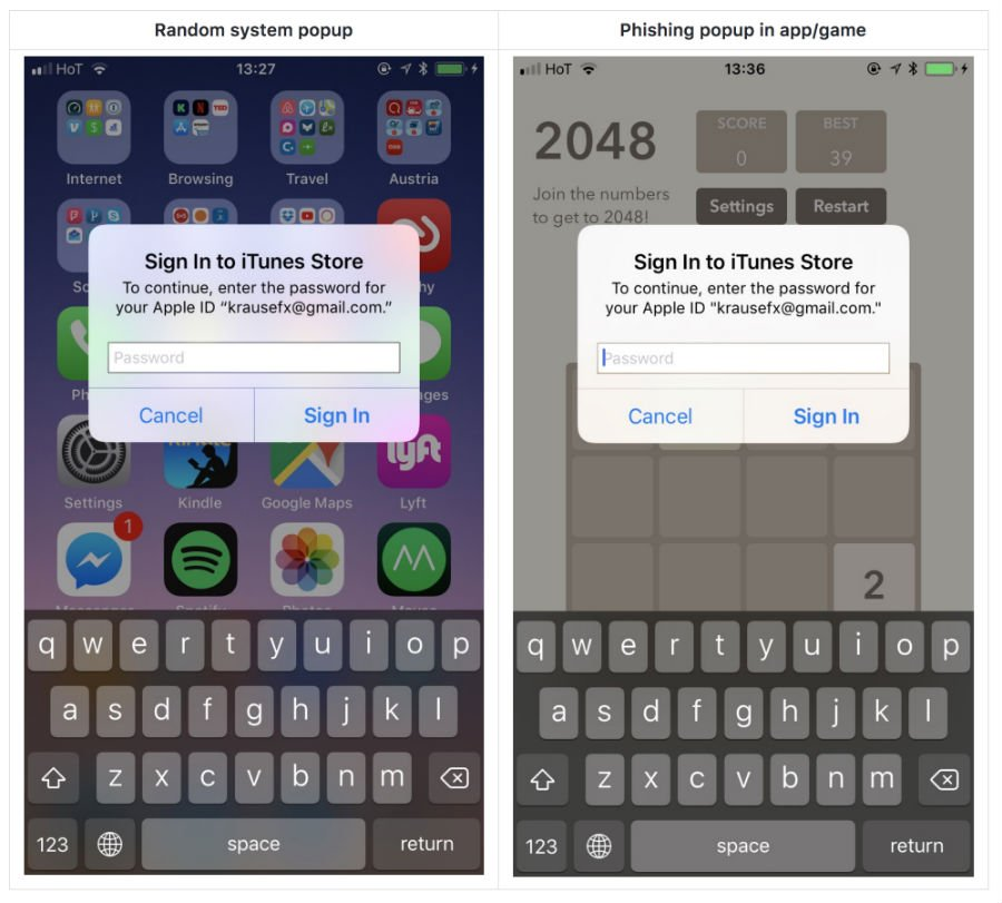 Phishing : attention aux faux pop-ups sur iPhone et iPad !