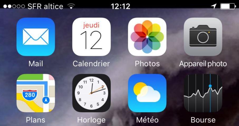 """sfr altice iphone - L'opérateur SFR s'appelle à présent """"SFR altice'' sur les smartphones"""