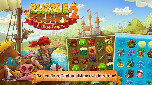 Puzzle Craft 2 - Jeux de Match 3 : 6 alternatives à Candy Crush Saga sur iPhone & iPad