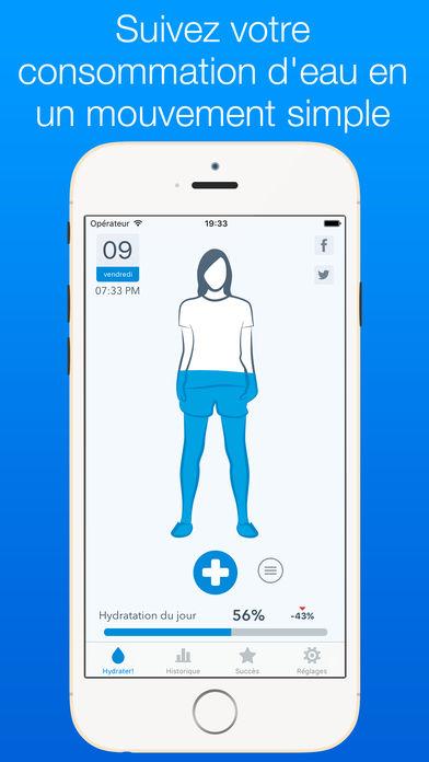 WaterMinder - Running : 6 apps iPhone pour améliorer vos performances de courses