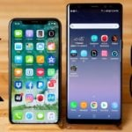 apple iphone x vs samsung galaxy note 8 150x150 - Autonomie : les iPhone X & iPhone 8 surclassent les Galaxy S9 & S9+