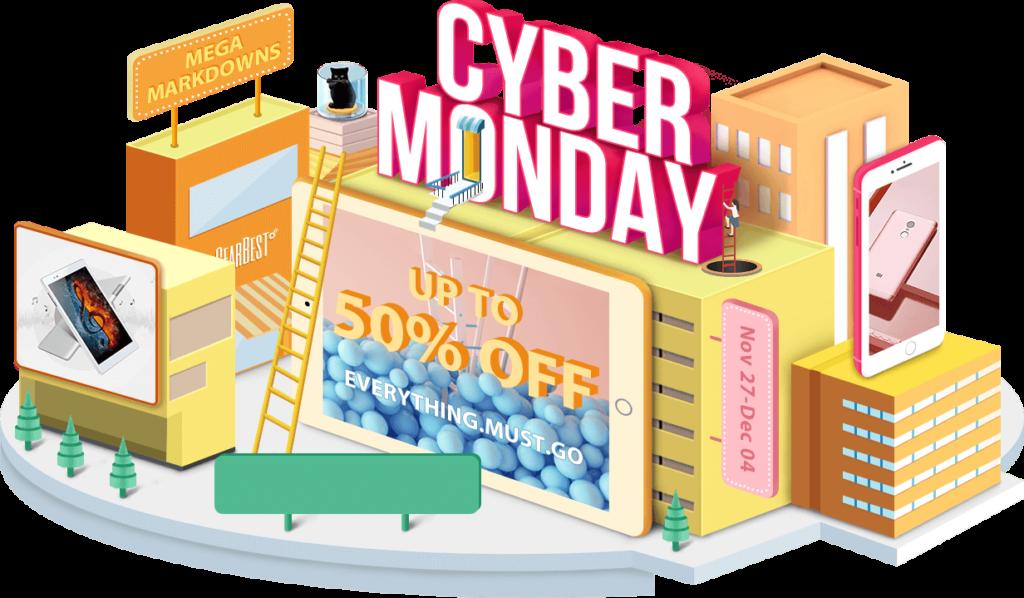 cyber monday gearbest 1024x598 - Cyber Monday 2017 Gearbest : 5 produits high-tech à ne pas manquer !
