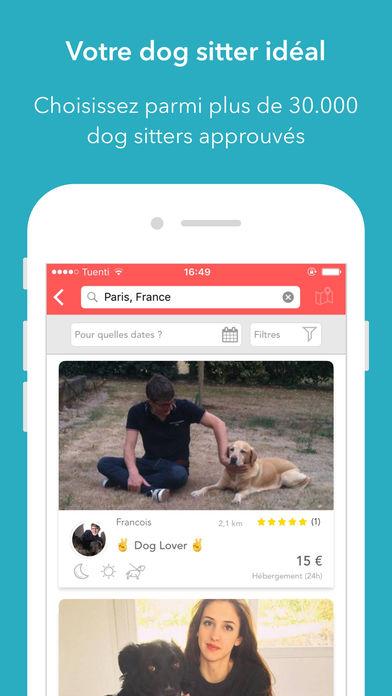 dogbuddy - DogBuddy : l'app iPhone idéale pour trouver un dog sitter