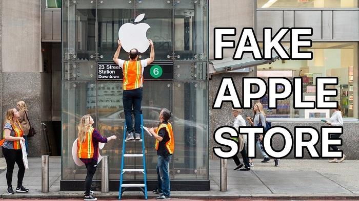 Sortie de l'iPhone X : des américains piégés par un faux Apple Store
