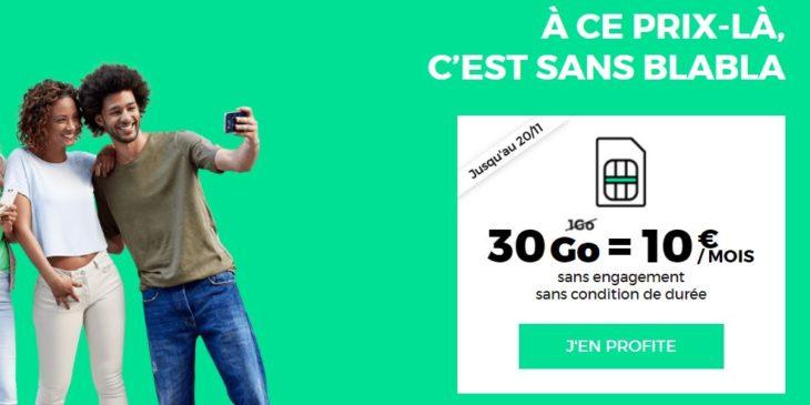 RED by SFR : retour du forfait 4G 30 Go à 10€/mois à vie !