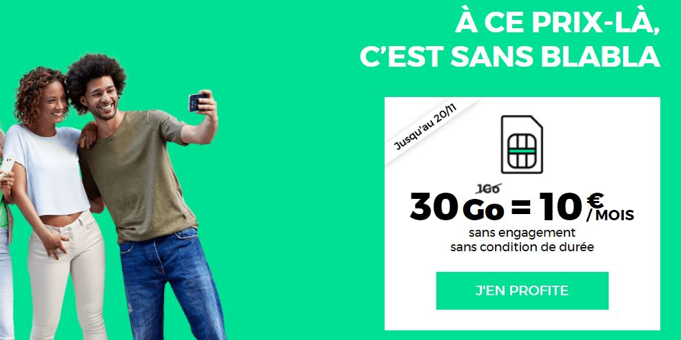 forfait SFR RED 30GO 10 euros novembre 2017 - RED by SFR : retour du forfait 4G 30 Go à 10€/mois à vie !