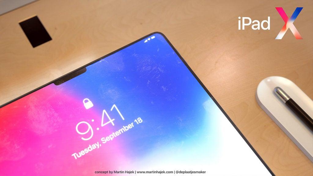 iPad X Concept Martin Hajek 10 1024x576 - iPad X : un concept qui mélange l'iPad Pro et l'iPhone X, par Martin Hajek