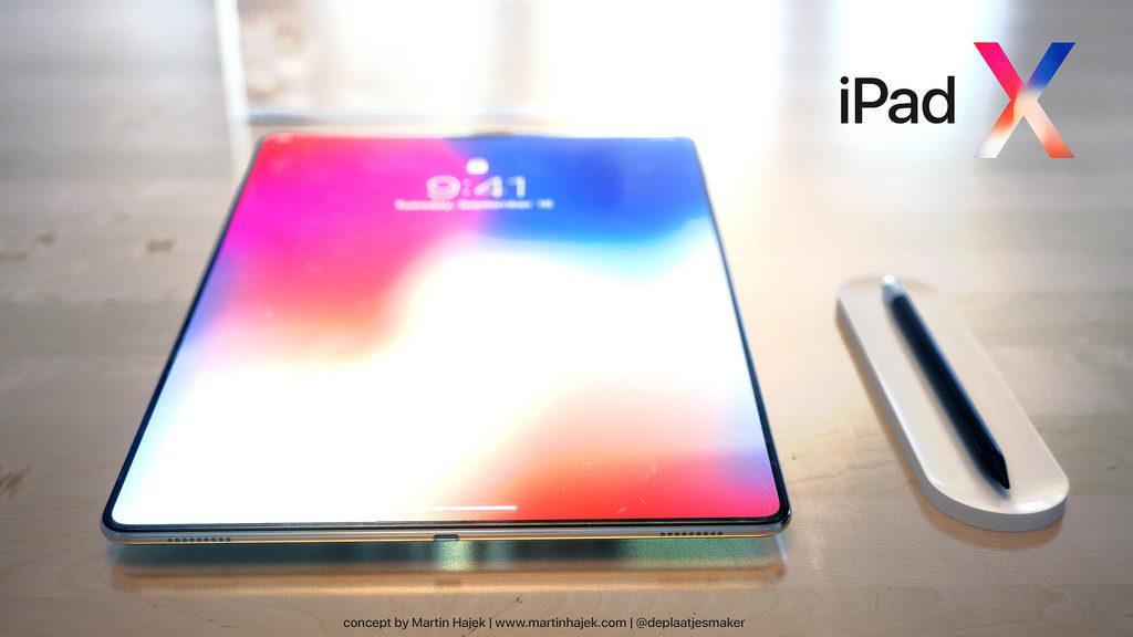 iPad X Concept Martin Hajek 1024x576 - iPad X : un concept qui mélange l'iPad Pro et l'iPhone X, par Martin Hajek