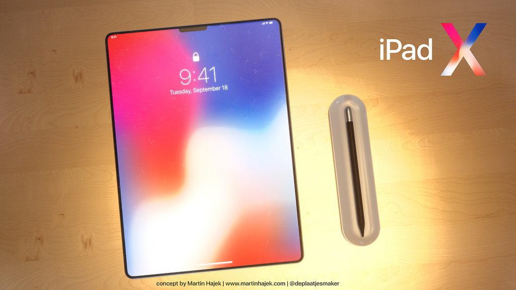 iPad X Concept Martin Hajek 12 1024x576 - iPad X : un concept qui mélange l'iPad Pro et l'iPhone X, par Martin Hajek