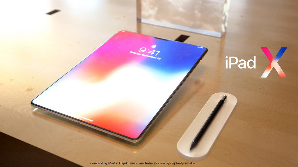 iPad X Concept Martin Hajek 13 1024x576 - iPad X : un concept qui mélange l'iPad Pro et l'iPhone X, par Martin Hajek