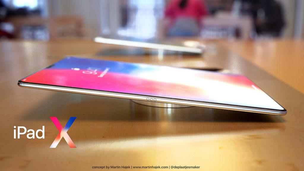 iPad X Concept Martin Hajek 4 1024x576 - iPad de 2018 : huit cœurs pour le processeur A11X Bionic ?
