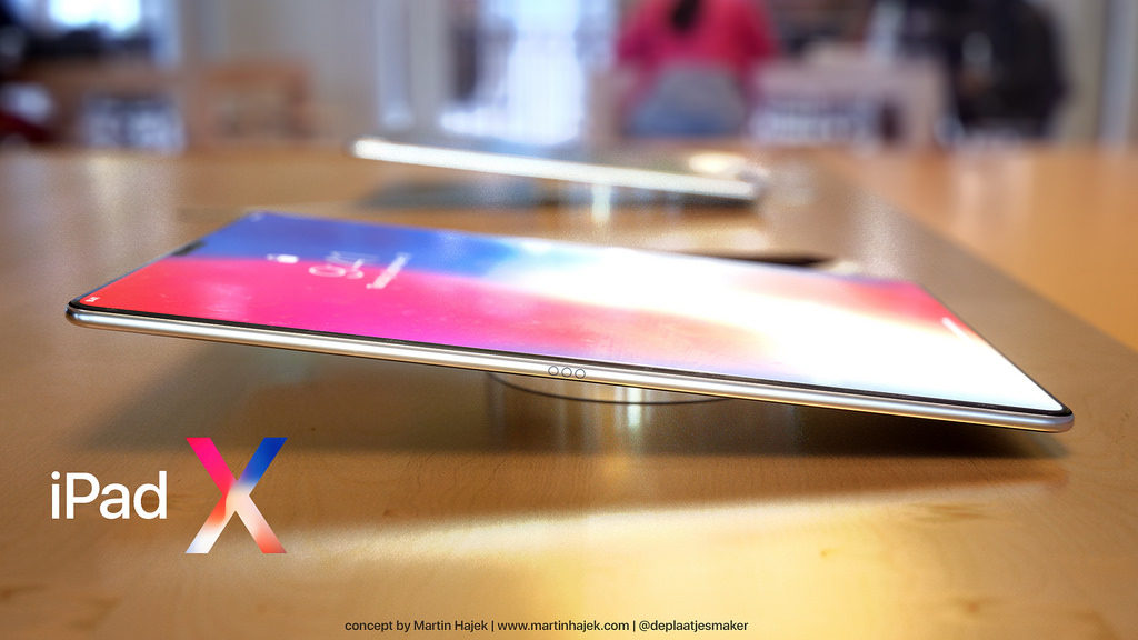 iPad X Concept Martin Hajek 4 1024x576 - iPad Pro : sortie en juin et Face ID au programme ?