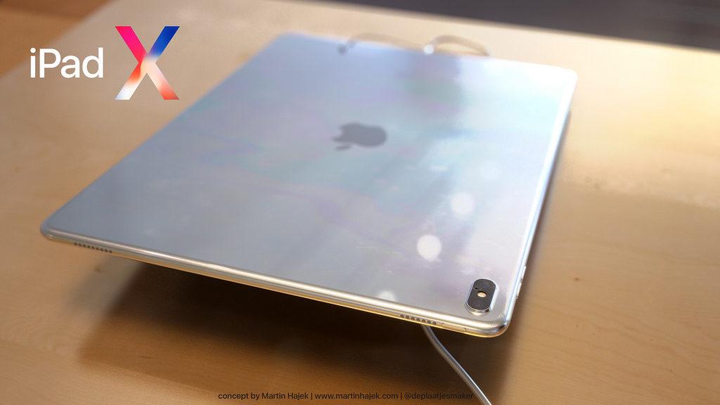 iPad X : un concept qui mélange l'iPad Pro et l'iPhone X, par Martin Hajek