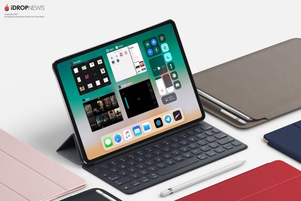 idropnews iPad Pro 2018 concept 2 1024x685 - iPad Pro : un concept inspiré de l'iPhone X imagine le modèle de 2018