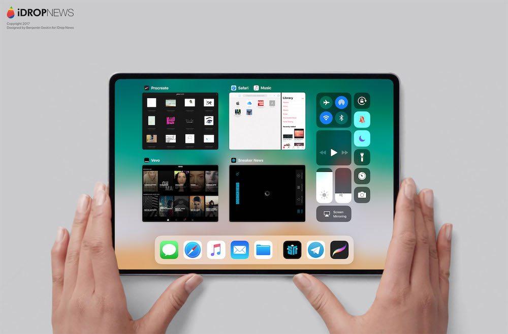idropnews iPad Pro 2018 concept 3 - iPad Pro : un concept inspiré de l'iPhone X imagine le modèle de 2018