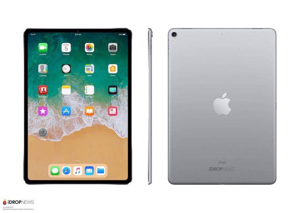 idropnews iPad Pro 2018 concept 5 1024x727 - iPad Pro : un concept inspiré de l'iPhone X imagine le modèle de 2018
