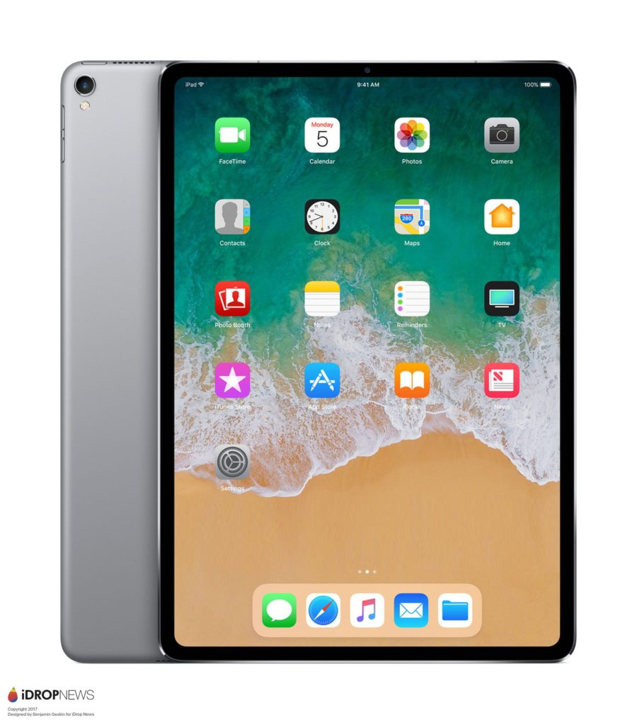 ipad pro un concept inspir de l 39 iphone x imagine le. Black Bedroom Furniture Sets. Home Design Ideas