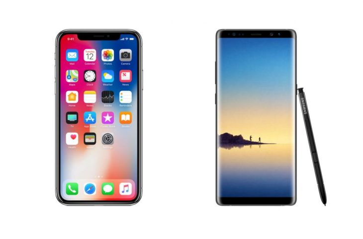iPhone X vs Galaxy Note 8 : comparatif de la partie son