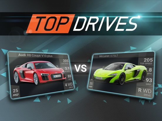 top drives jeu - Jeu du jour : Top Drives (iPhone & iPad)