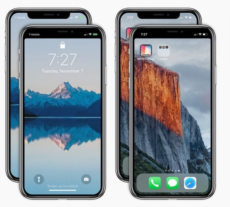 """Notch Remover Application - Notch Remover : une application pour """"supprimer"""" l'encoche de l'iPhone X"""