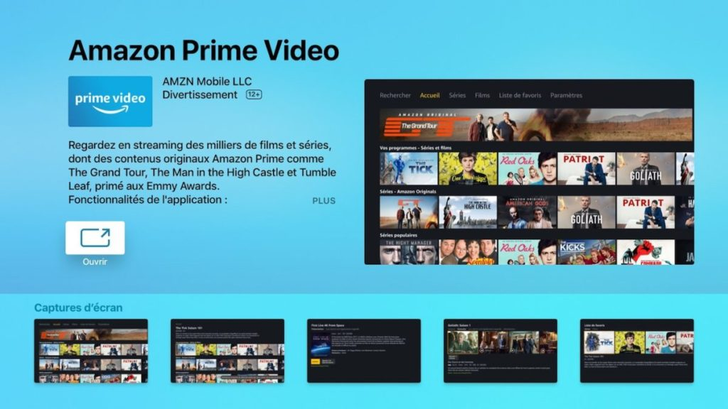 amazon prime video apple tv 1024x576 - Apple TV : l'application Amazon Prime Video cartonne