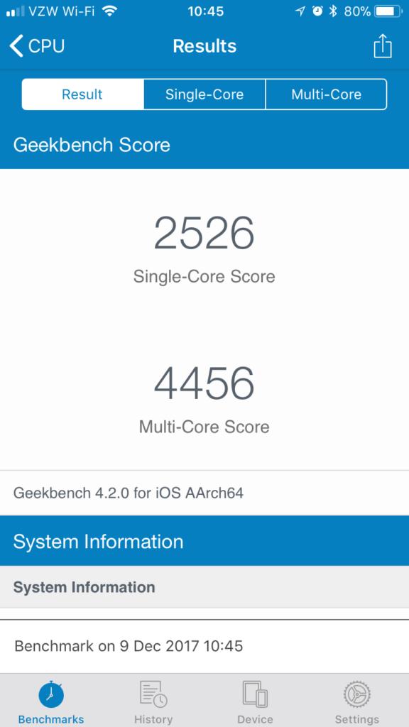 geekbench iphone 6s batterie apres 576x1024 - Changer la batterie de son iPhone peut lui donner une seconde vie !