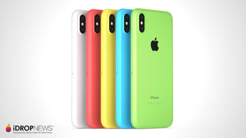 iPhone Xc iDrop News x Martin Hajek 4 1024x576 - iPhone Xc : un concept qui mélange l'iPhone X et l'iPhone 5c