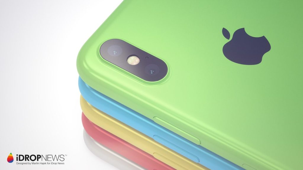 iPhone Xc iDrop News x Martin Hajek 7 1024x576 - iPhone Xc : un concept qui mélange l'iPhone X et l'iPhone 5c