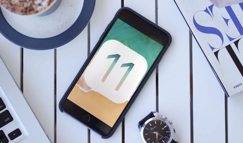 ios 11 logo iphone 1024x604 - iOS : le système d'exploitation mobile le plus sécurisé... selon Nokia !