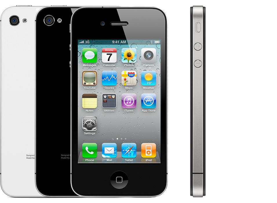 iphone 4 apple noir blanc - Insolites : des américains prennent l'iPhone 4 pour un iPhone X !