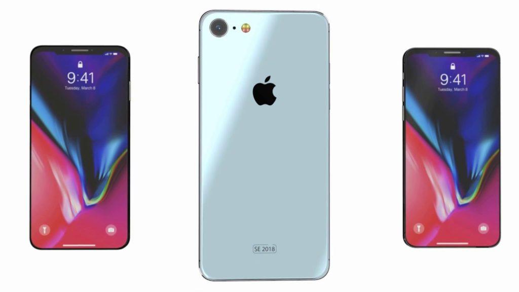 iphone se 2018 iphone x concept 1024x576 - iPhone SE 2 : écran de 4,2 pouces, présentation à la WWDC 2018 ?