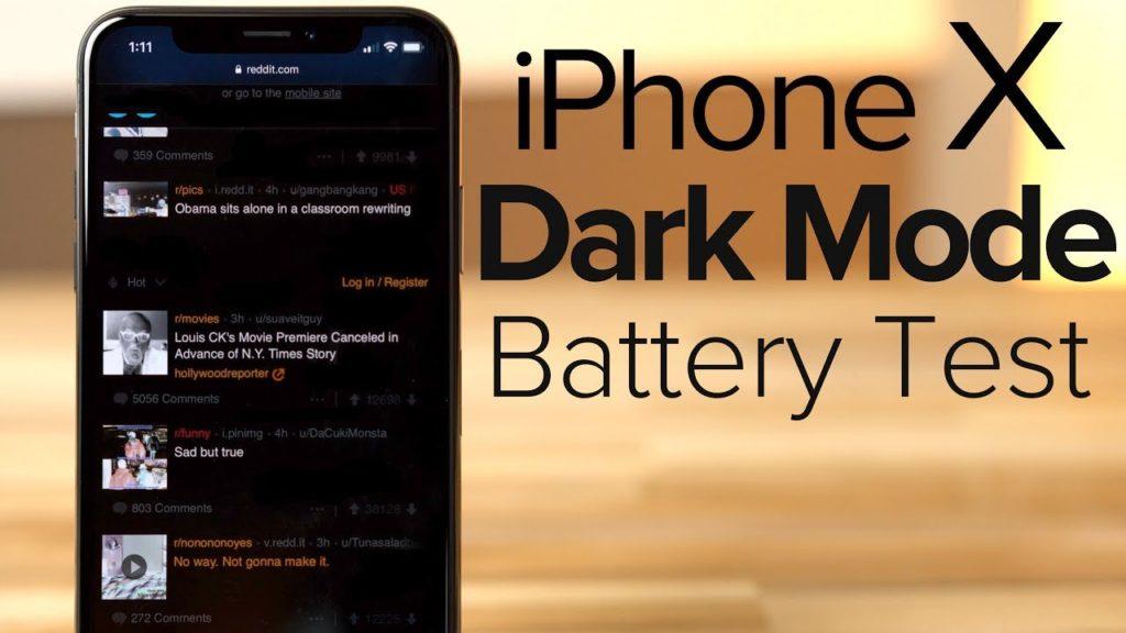 "iphone x dark mode test sombre 1024x576 - iPhone X : une autonomie accrue avec le mode ""Dark"""