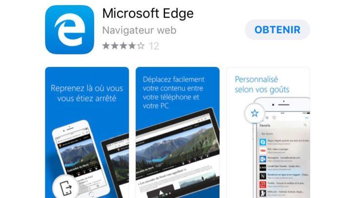 Microsoft Edge : la version finale est enfin disponible sur l'App Store