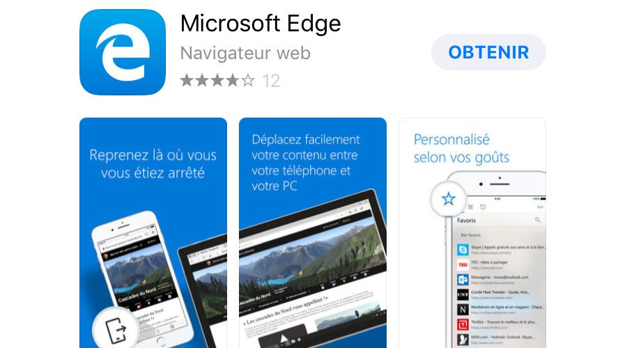 microsoft edge ios - Microsoft Edge : la version finale est enfin disponible sur l'App Store