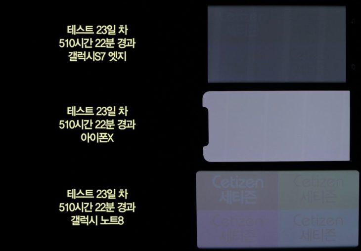 Brûlure d'écran OLED : que vaut l'iPhone X face à ses concurrents ?
