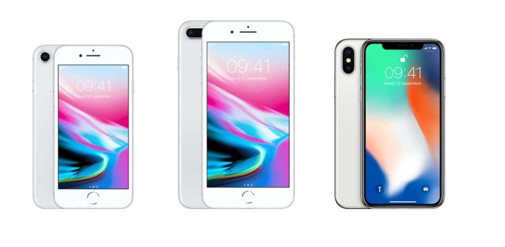 apple iphone gamme 2017 iphone 8 iphone 8 plus iphone x 1024x502 - Les iPhone 8 & 8 Plus plus vendus que l'iPhone X en novembre dernier