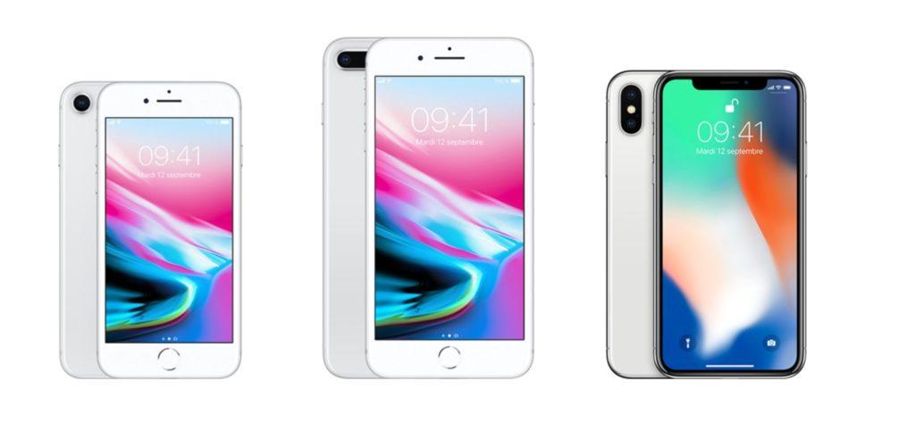 Les iPhone 8 & 8 Plus plus vendus que l'iPhone X en novembre dernier