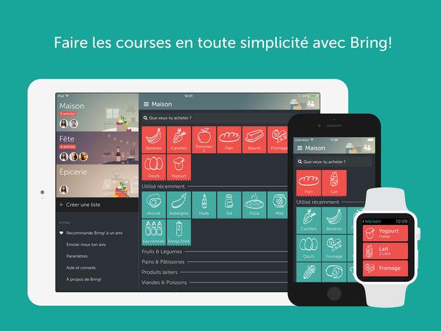 bring liste de courses - App du jour : Bring! Liste de courses (iPhone & iPad - gratuit)