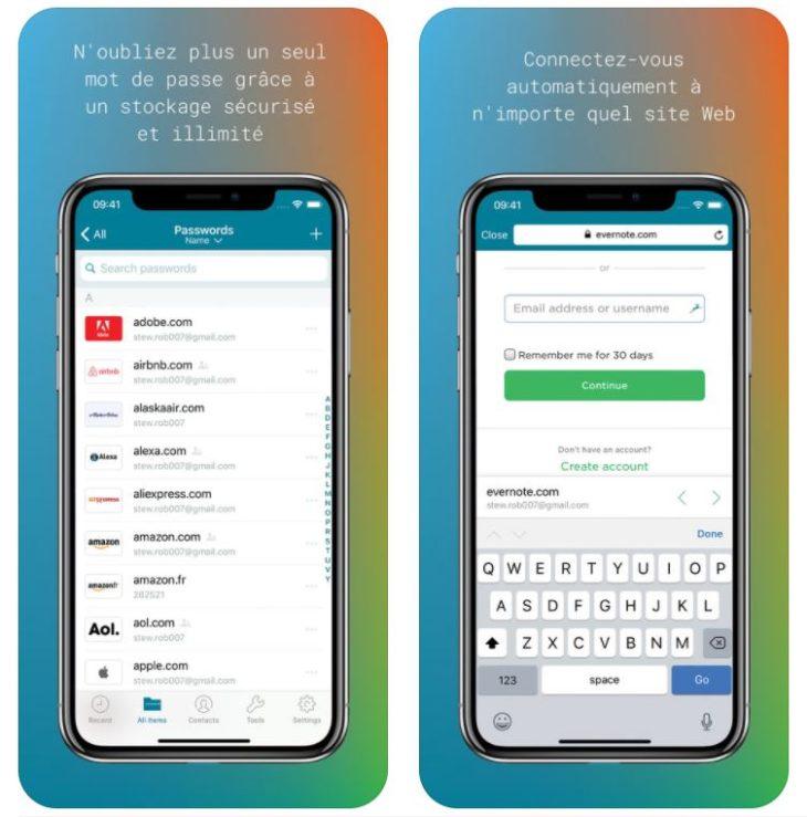 App du jour : Dashlane (iPhone & iPad – gratuit)