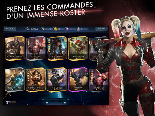 injustice 2 - Jeu du jour : Injustice 2 (iPhone & iPad - gratuit)