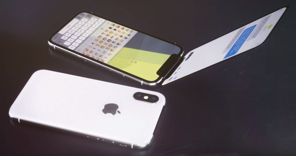 iphone x clapet concept 1024x540 - Insolite : un concept imagine un iPhone X à clapet !